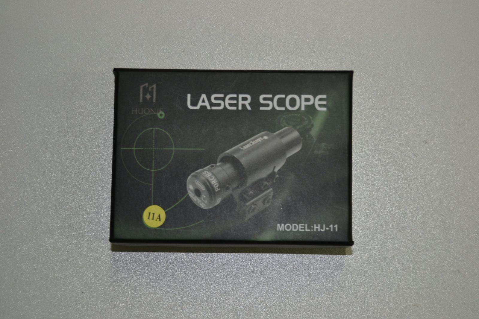 Červený laserový zaměřovač na pušky a pistole