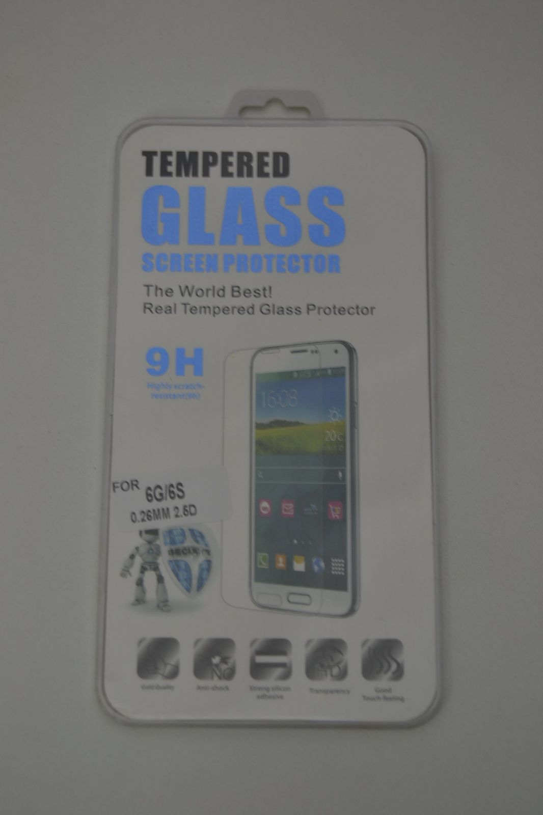 Ochranné sklo na iPhone 6 - tempered glass