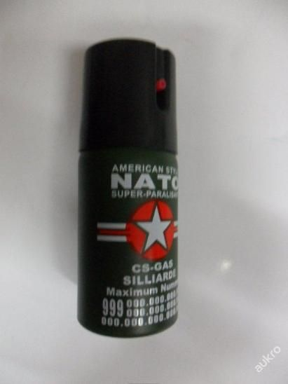 SLZNÝ SPRAY, SLZÁK, KASR NATO - CS GAS 40ml
