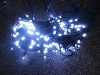 VÁNOČNÍ OSVĚTLENÍ 300 LED - BÍLÉ ZD, BLIKAČKY