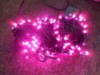 VÁNOČNÍ OSVĚTLENÍ 300 LED - RŮŽOVÉ ZD, BLIKAČKY