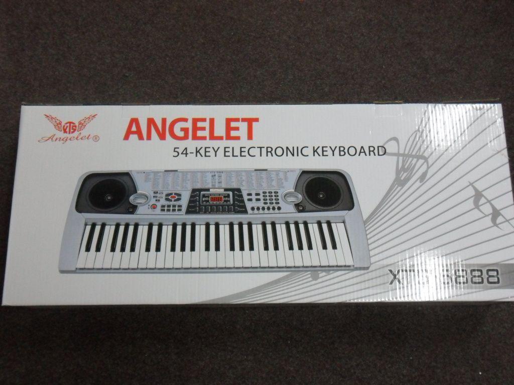 Velké výukové elektronické klávesy, piano Angelet
