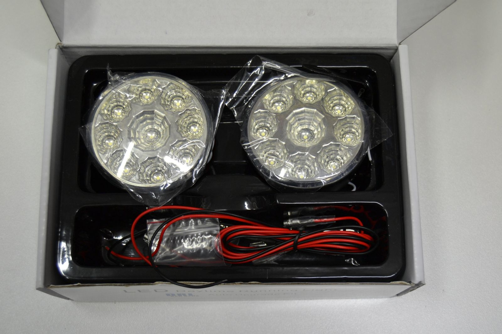 Denní svícení - led světla 9 diod kulatá - homologovaná - 2ks