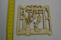 Dřevěná ozdoba - velikonoční okno, kraslice VE08