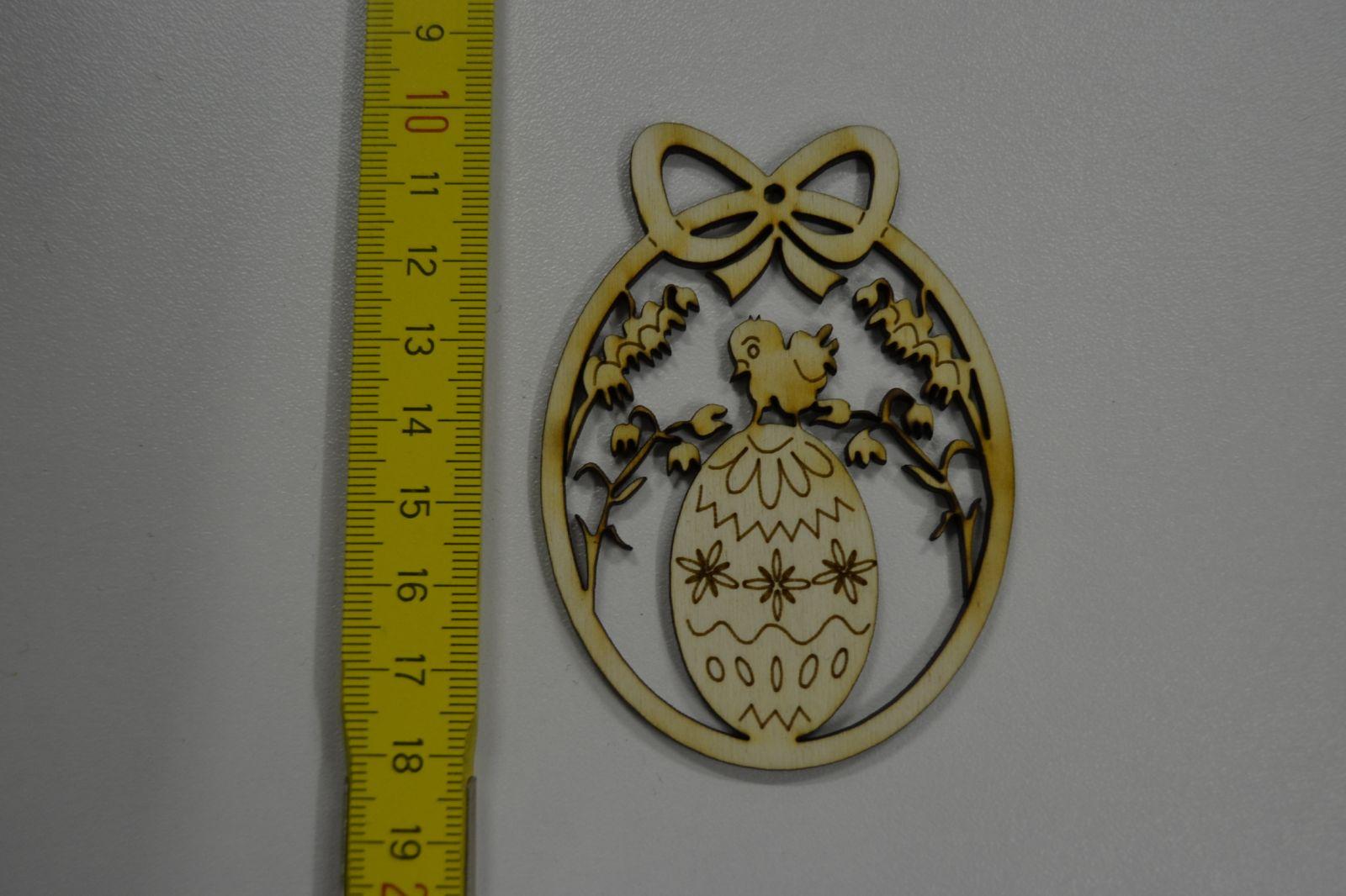 Dřevěná ozdoba - velikonoční vajíčko VE32