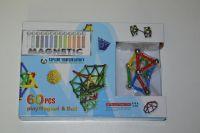 Magnetická stavenice - magnetic 60 dílů