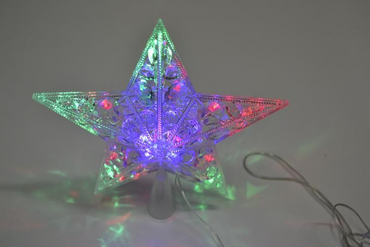 Vánoční hvězda na stromek střední barevná