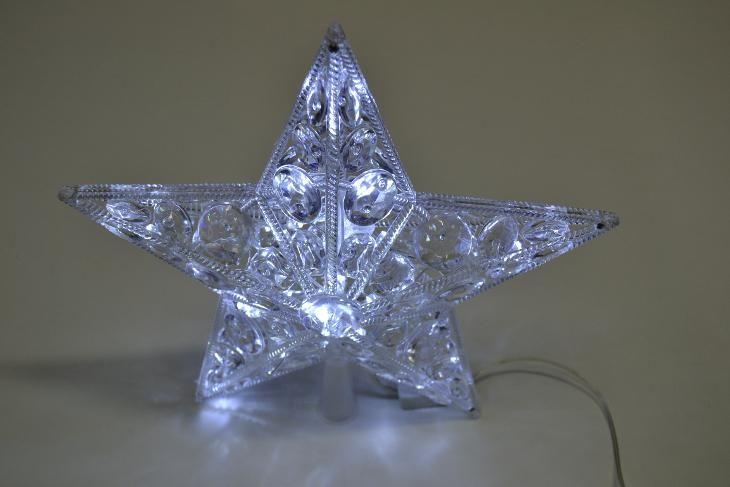 Vánoční hvězda na stromek velká bílá