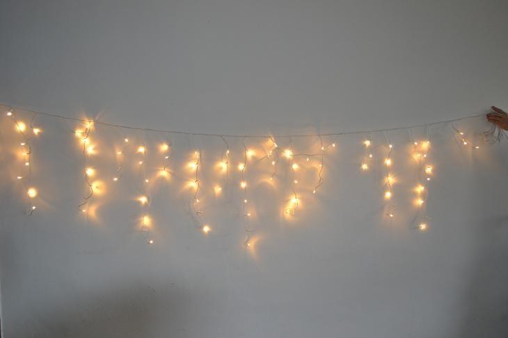 Vánoční osvětlení - venkovní závěs 10 metrů teplý