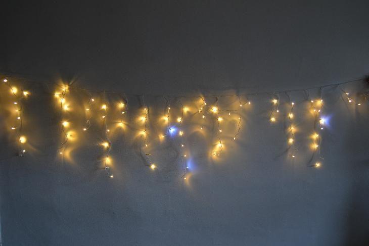 Vánoční venkovní závěs 5 metrů teplý se záblesky