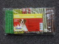 Barevné chroupací tyčinky pro psy z buvolí kůže - 100ks
