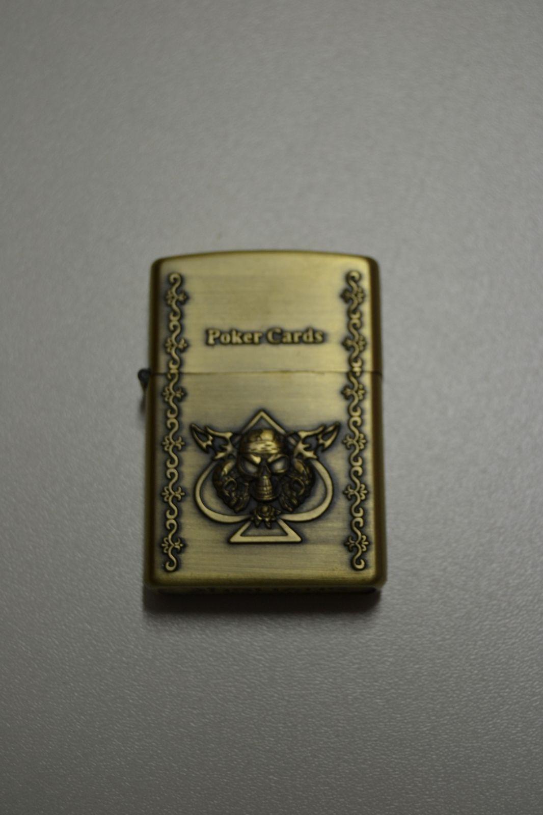 Benzínový zapalovač č. 44 - poker cards list