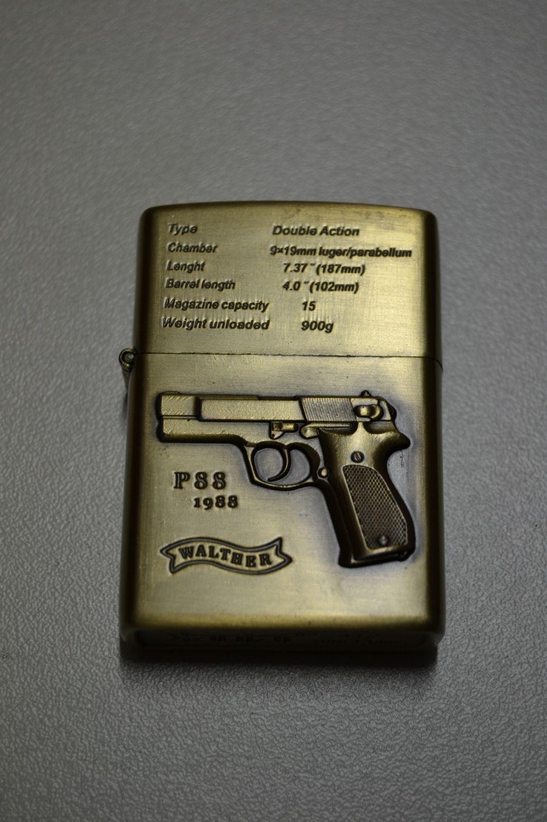 BENZÍNOVÝ ZAPALOVAČ Č.11 - pistole walther P88 1988