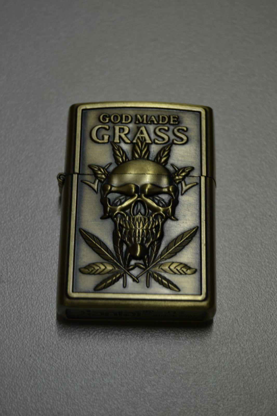 BENZÍNOVÝ ZAPALOVAČ Č.13 - cannabis god made grass