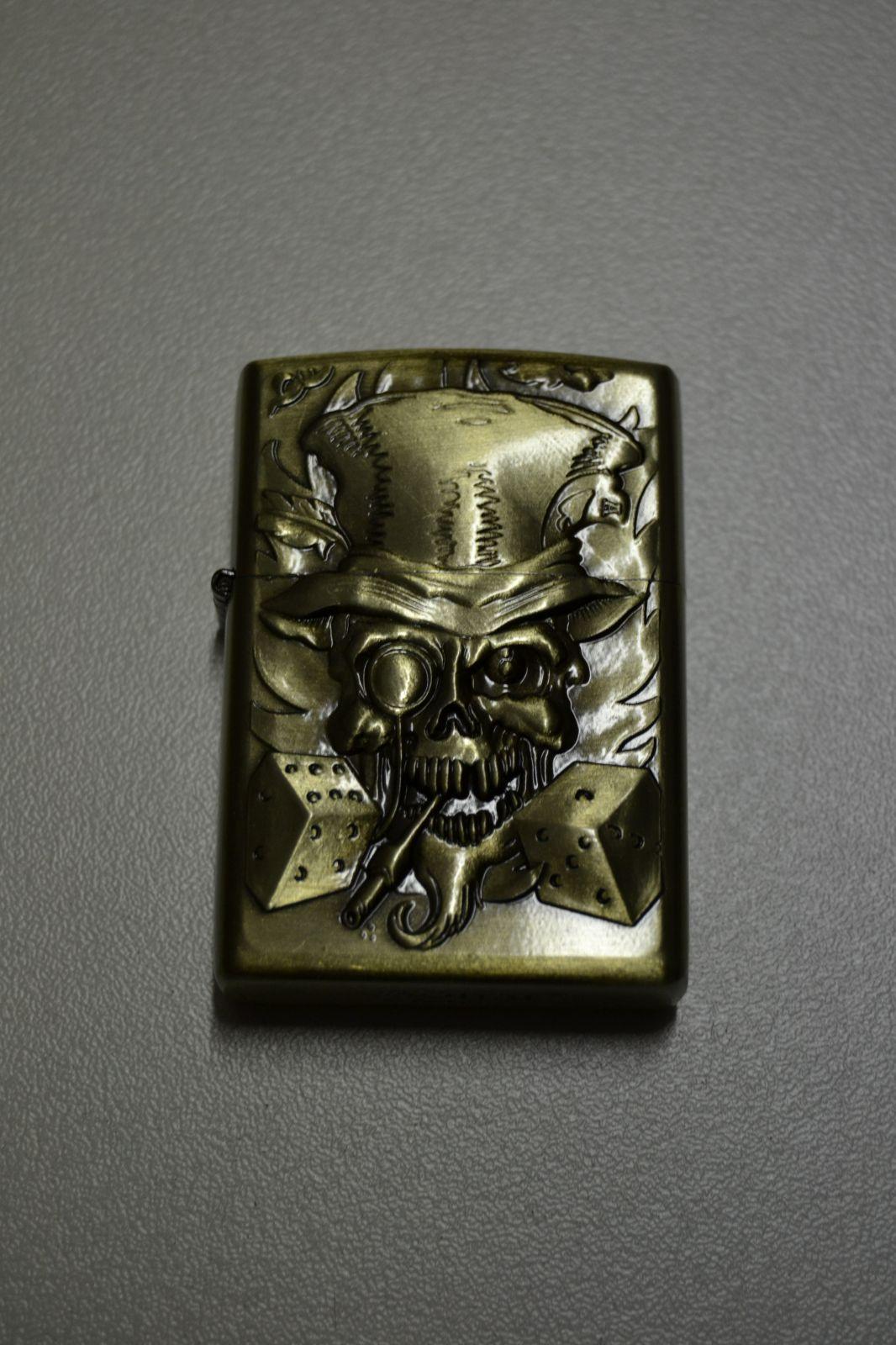BENZÍNOVÝ ZAPALOVAČ Č.34 - skull game