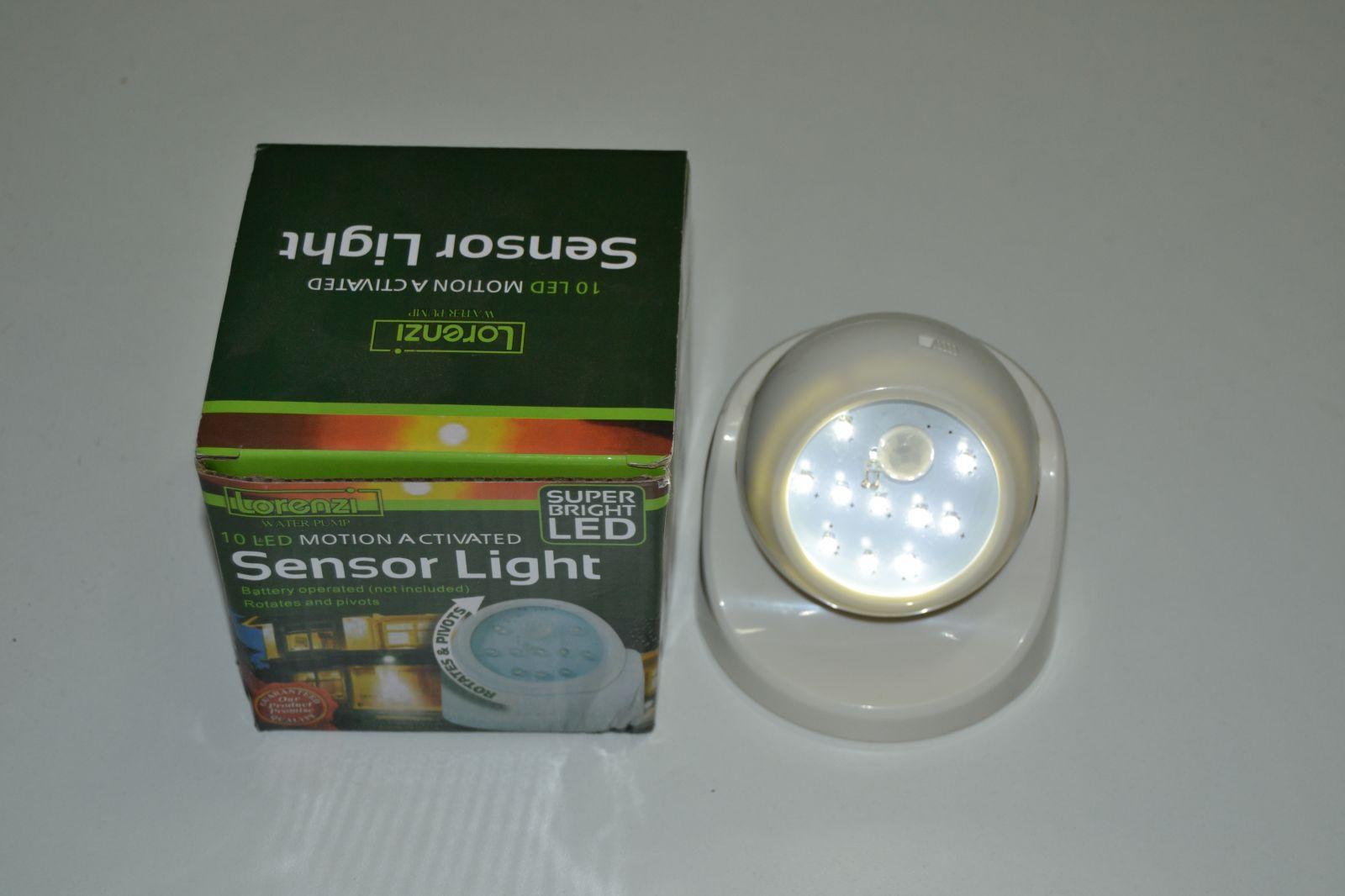 Bezdotyková led svítilna s čidlem pohybu - Sensor light - Lorenzi