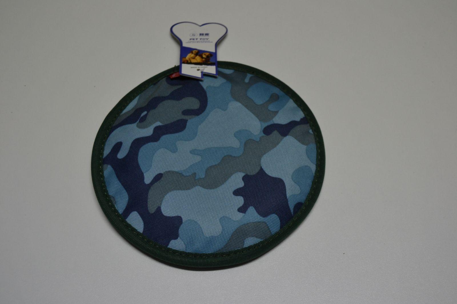 Hračka pro psy - létající talíř, frisbee - maskáč 20cm