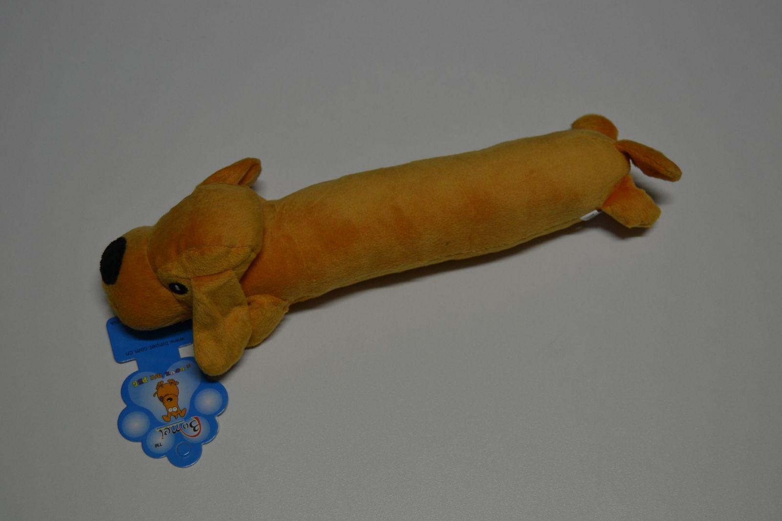 Hračka pro psy - plyšový pes SPIKE světle hnědý 32 cm