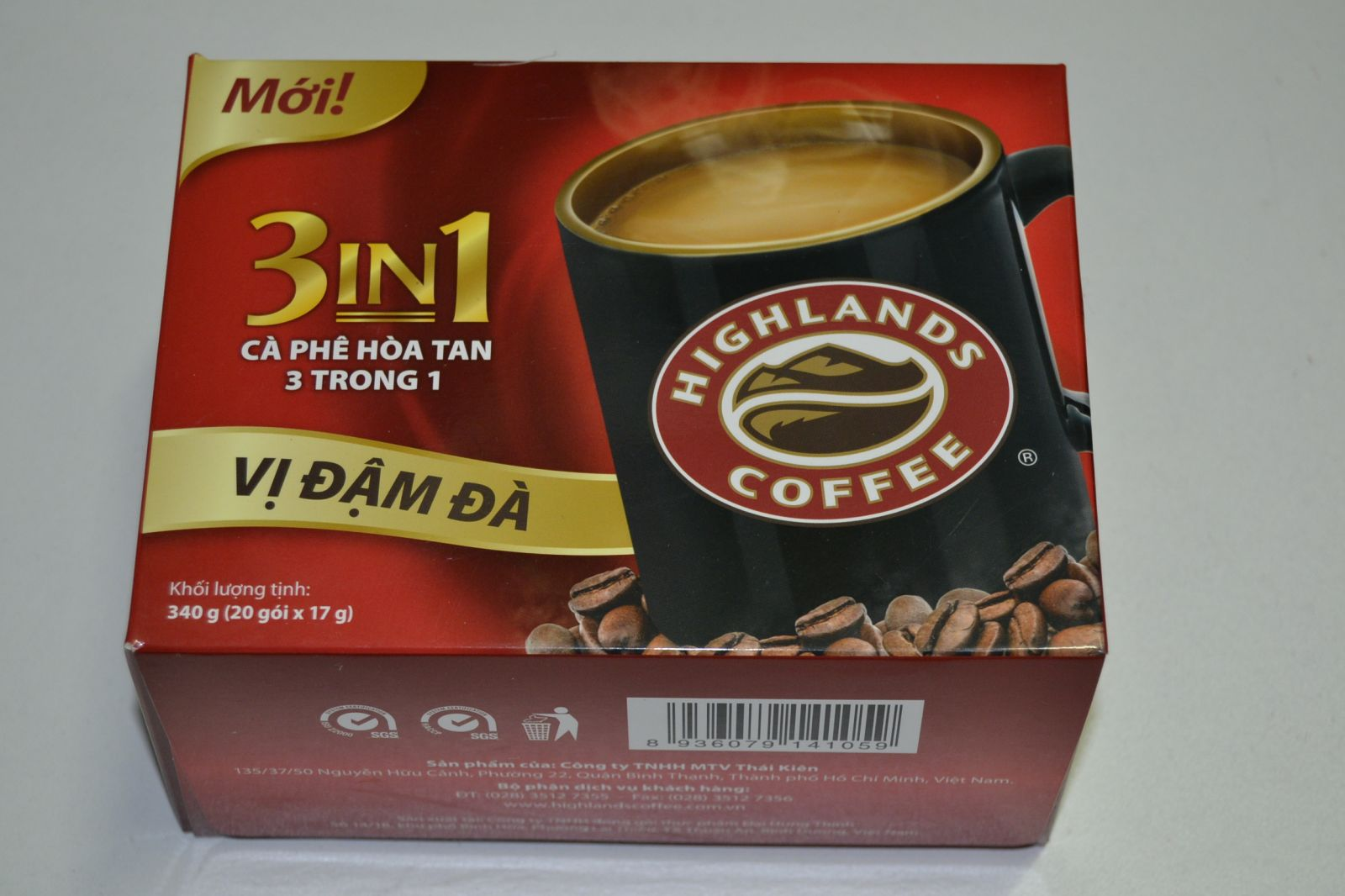 Instantní káva 3 v1 - Highlands Coffee 340g
