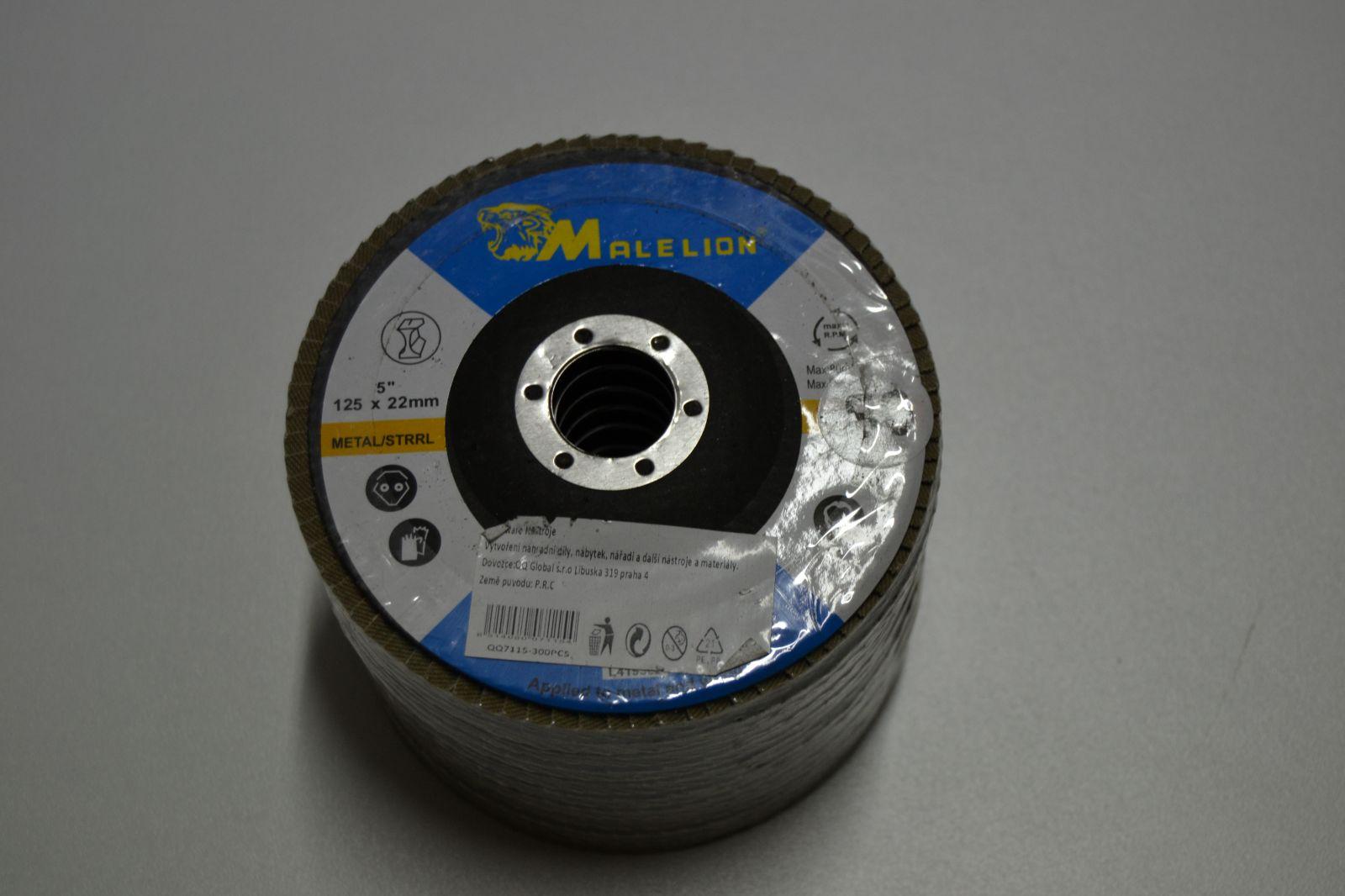 Lamelové kotouče 125 mm do úhlové brusky - 10ks