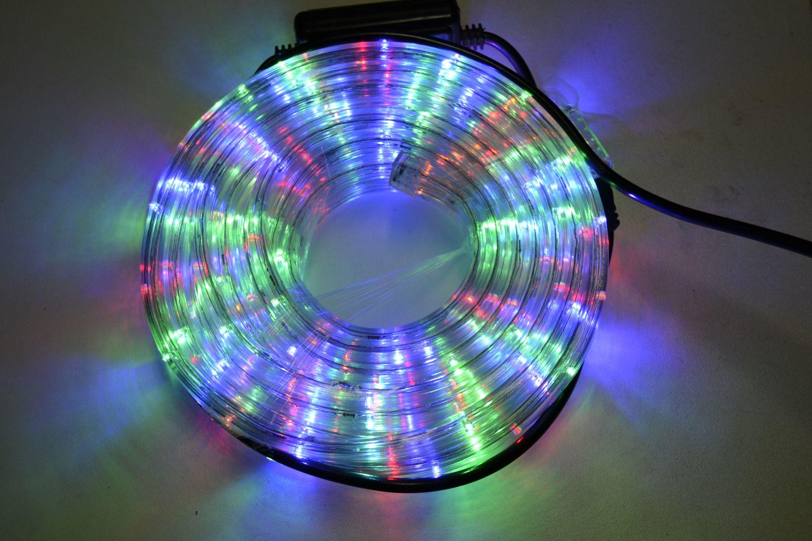 Led světelná trubice 10m barevná - vánoční osvětlení