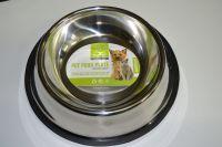 Nerezová miska pro psy 19cm, 1,2l s protiskluzovou úpravou