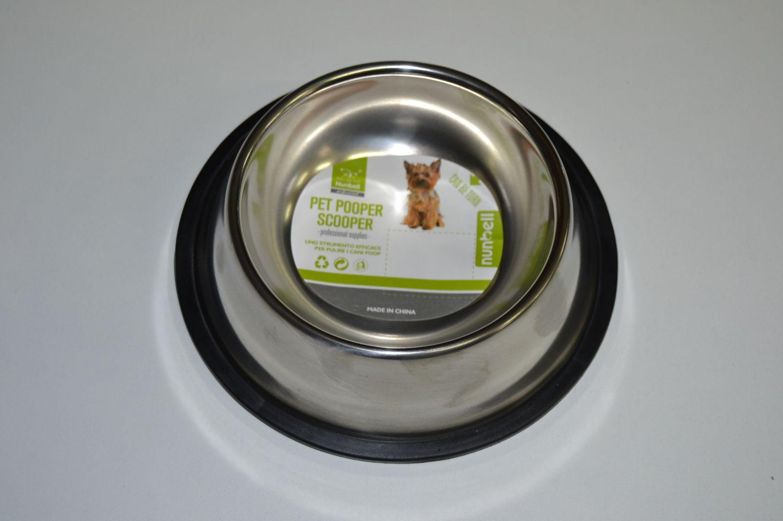 Nerezová miska pro psy a kočky 11cm, 0,2l s protiskluzovou úpravou