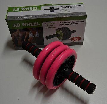 Posilovací kolečko na břišní svaly trojité - AB WHEEL