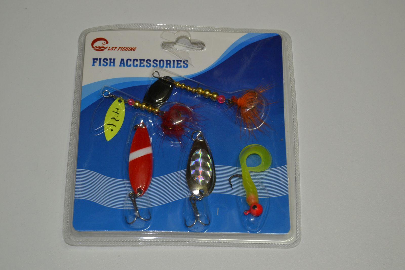 Sada umělých rybářských nástrah 5ks, třpytka
