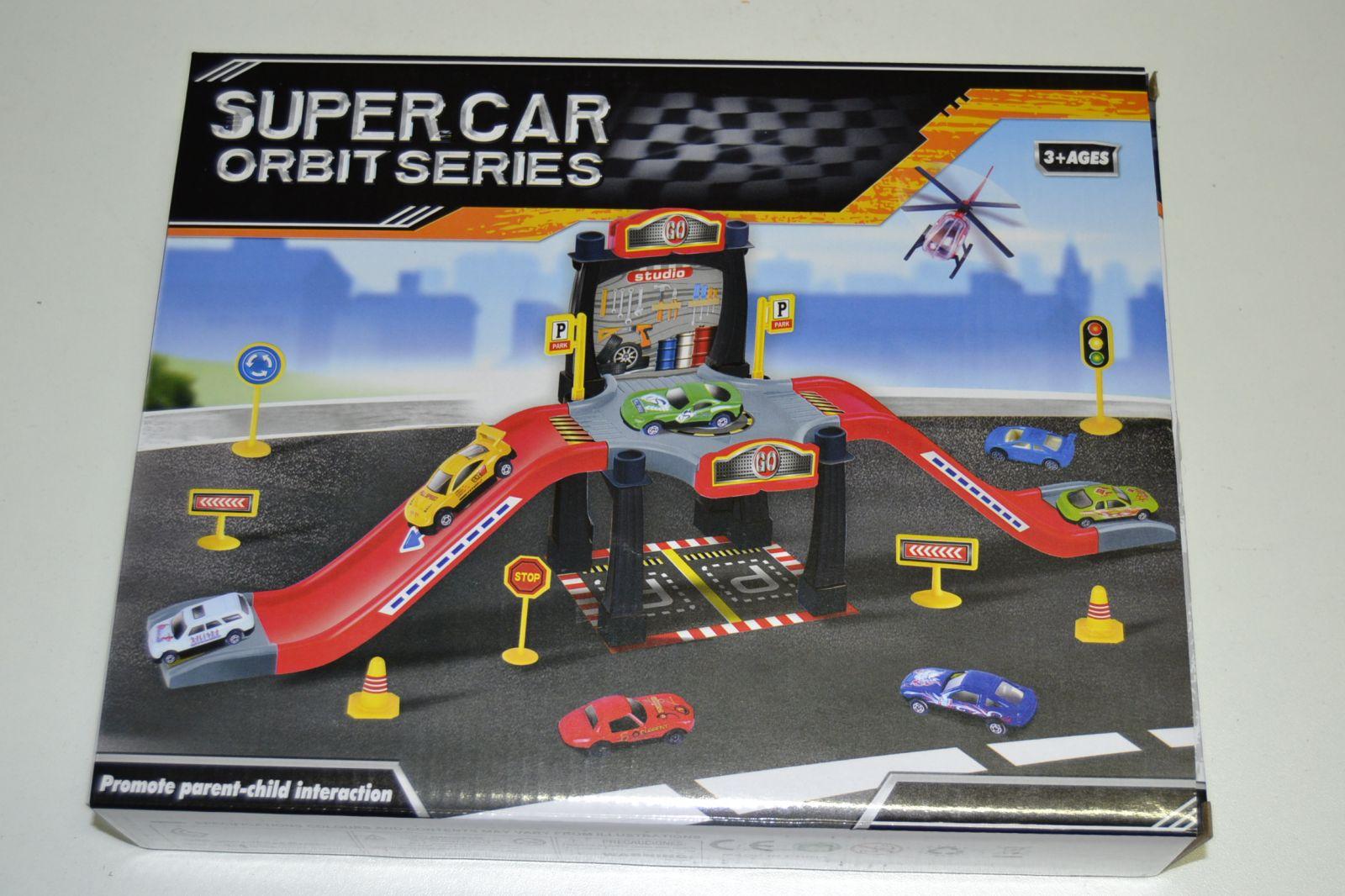 Super car, garáž, parkoviště + auto a letadlo