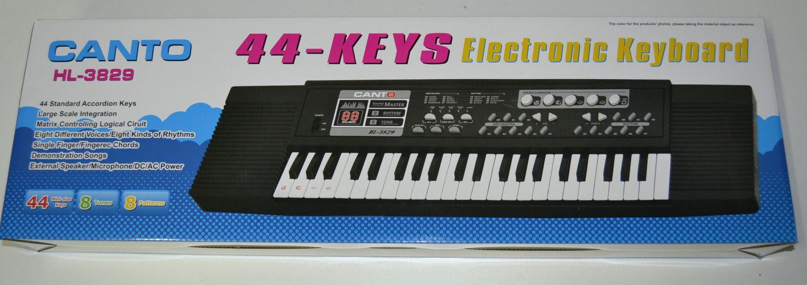Velké elektronické klávesy CANTO HL-3829, piano