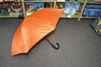 Velký tyčový deštník - hůl - oranžový