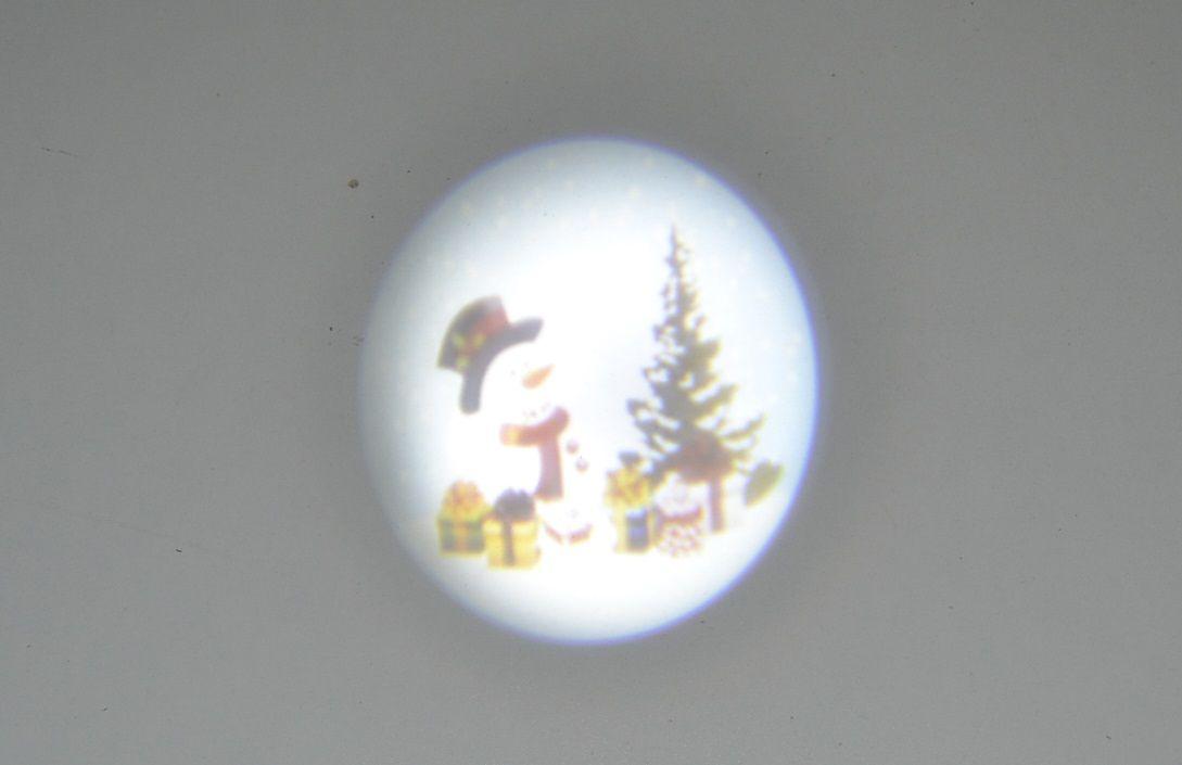 Venkovní obrázkový projektor - laser - sněhulák barevný 07
