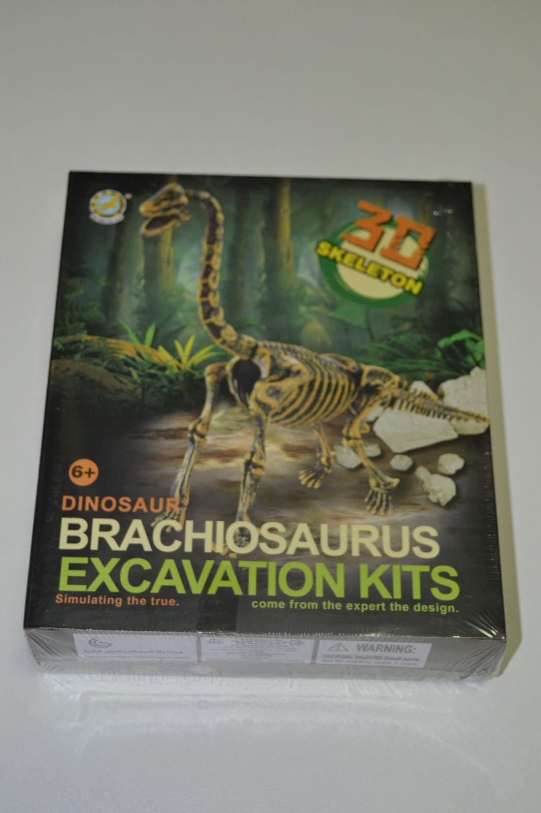 3D kostra - archeologický set - brachiosaurus - skeleton