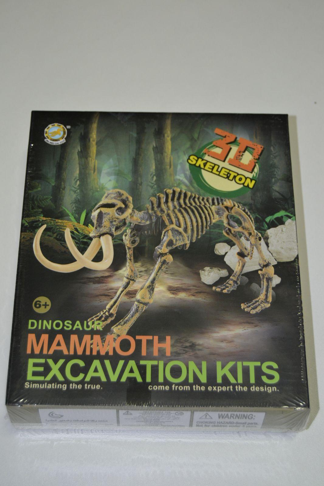 3D kostra - archeologický set - mamut - skeleton