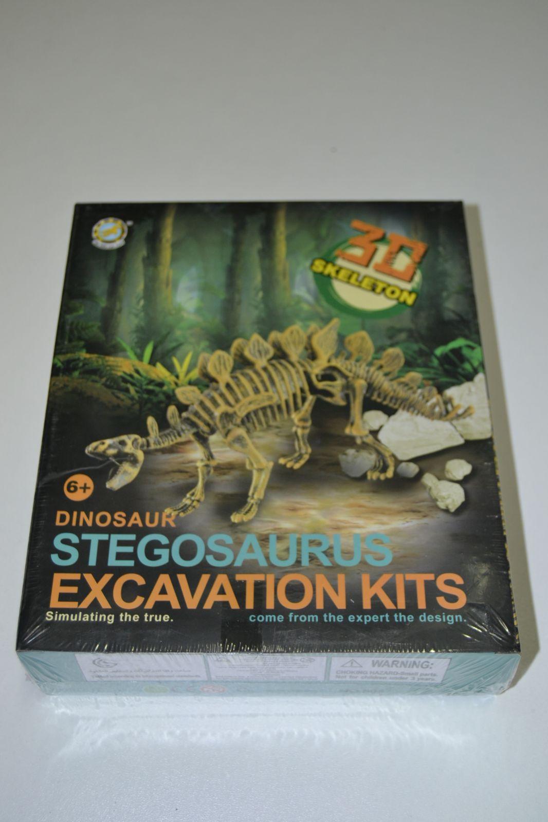3D kostra - archeologický set - stegosaurus - skeleton