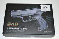 Kovová kuličkovka G19 - BB 6 mm - kuličková pistole