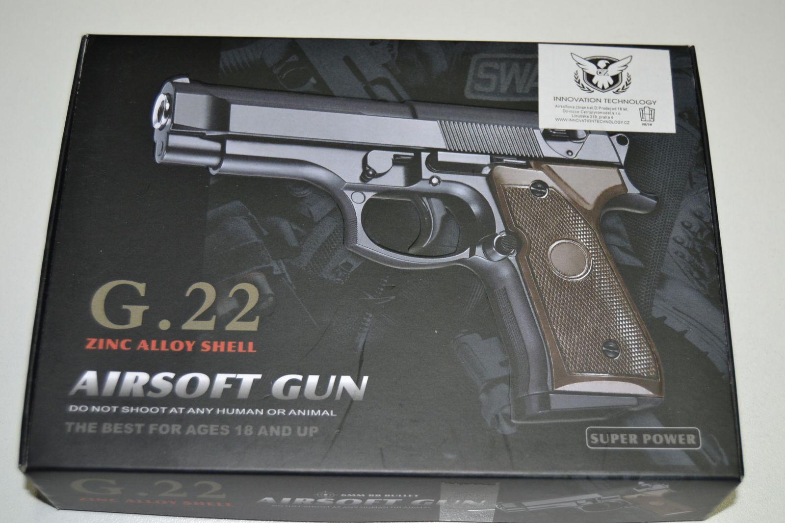 Kovová kuličkovka G22 - BB 6 mm - kuličková pistole