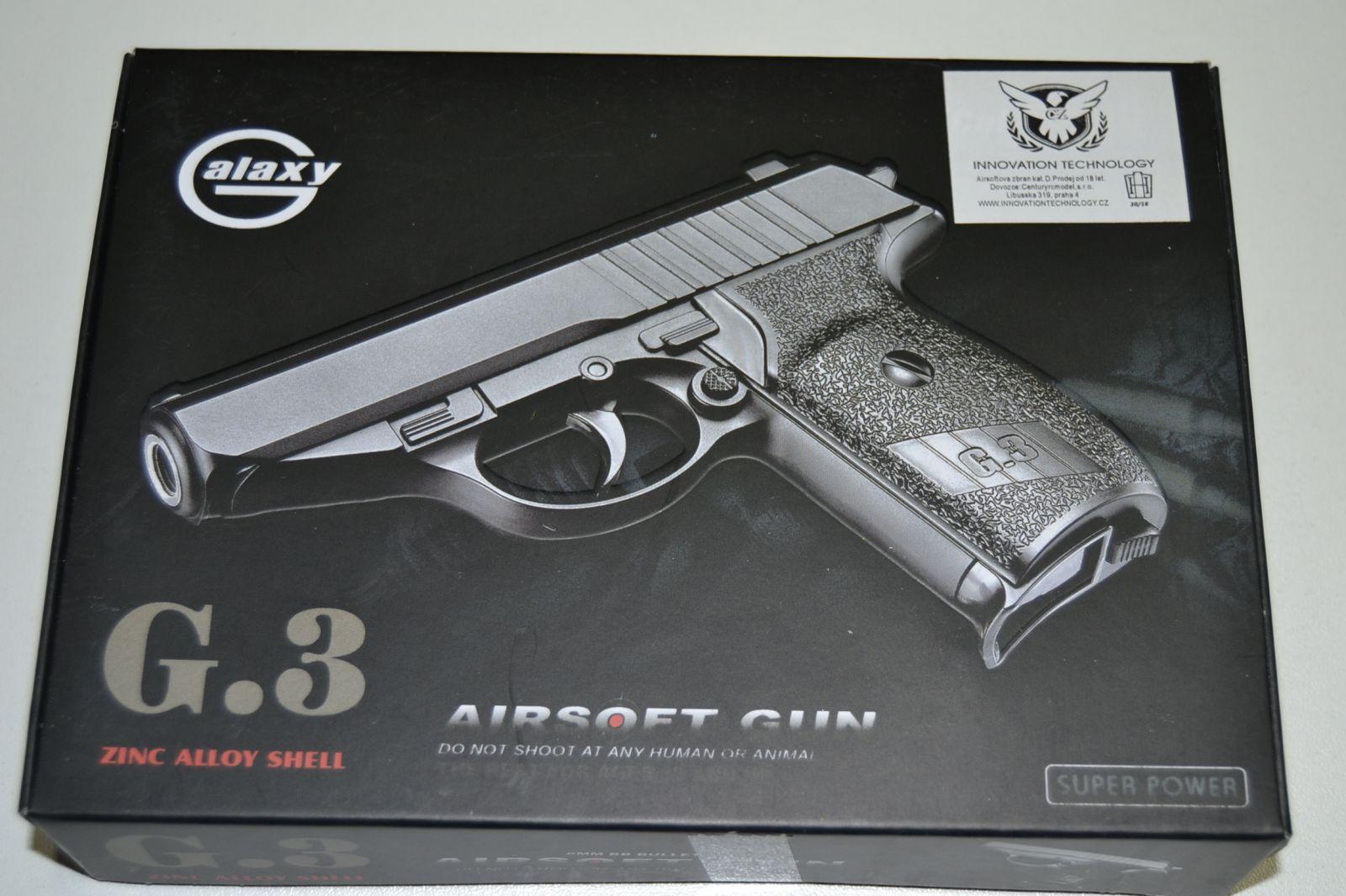 Kovová kuličkovka G3 - BB 6 mm - kuličková pistole