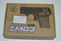 Kuličkovka ZM03, kuličková pistole, BB air sport gun, kov + plast