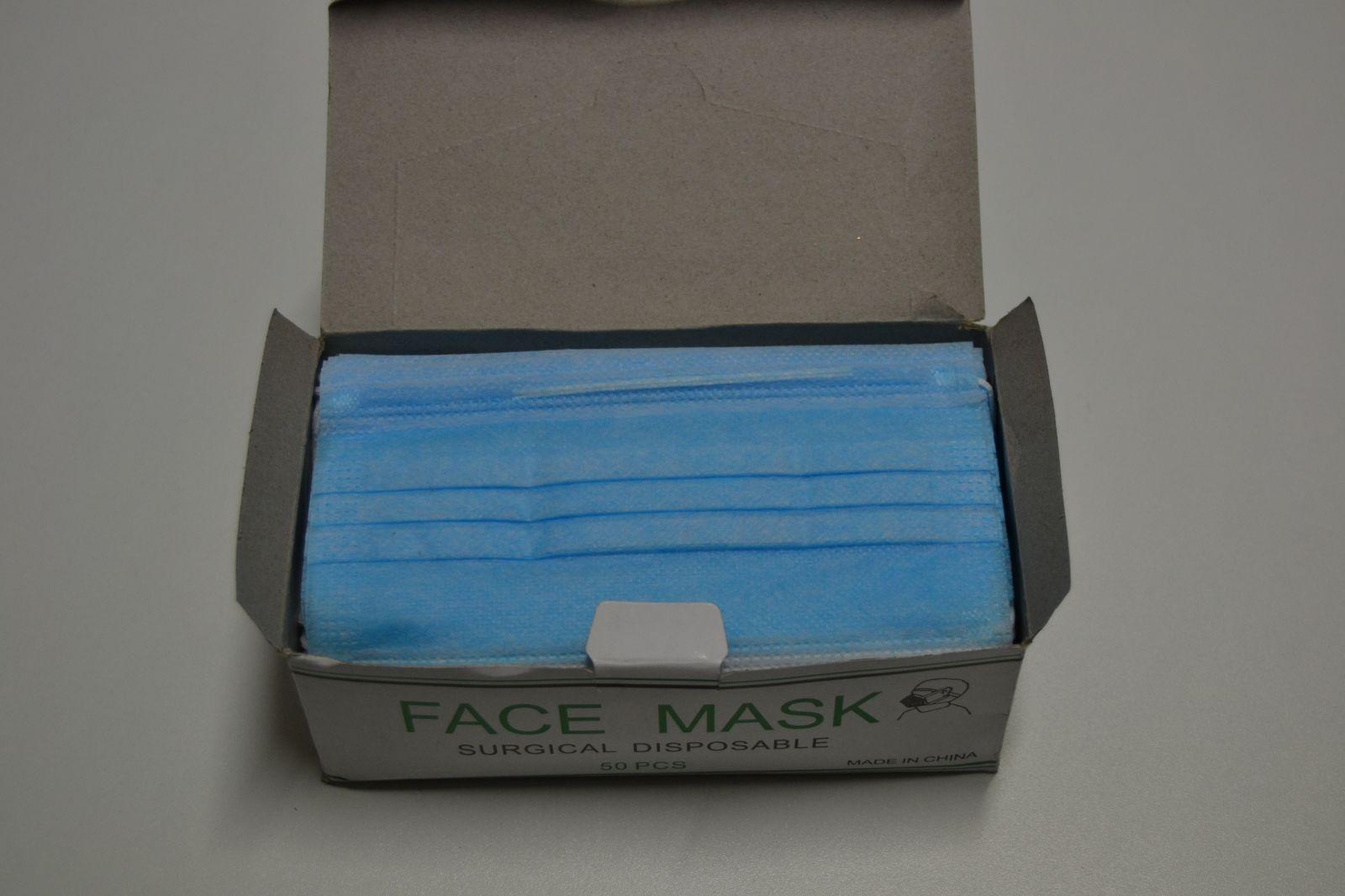 Ochranná rouška 50 ks - face mask, roušky