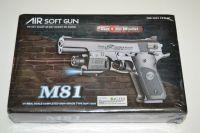 Plastová kuličkovka M81, kuličková pistole, BB air sport gun