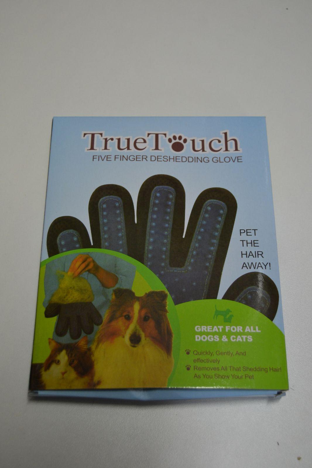 Prstová rukavice na vyčesávání srsti - True Touch