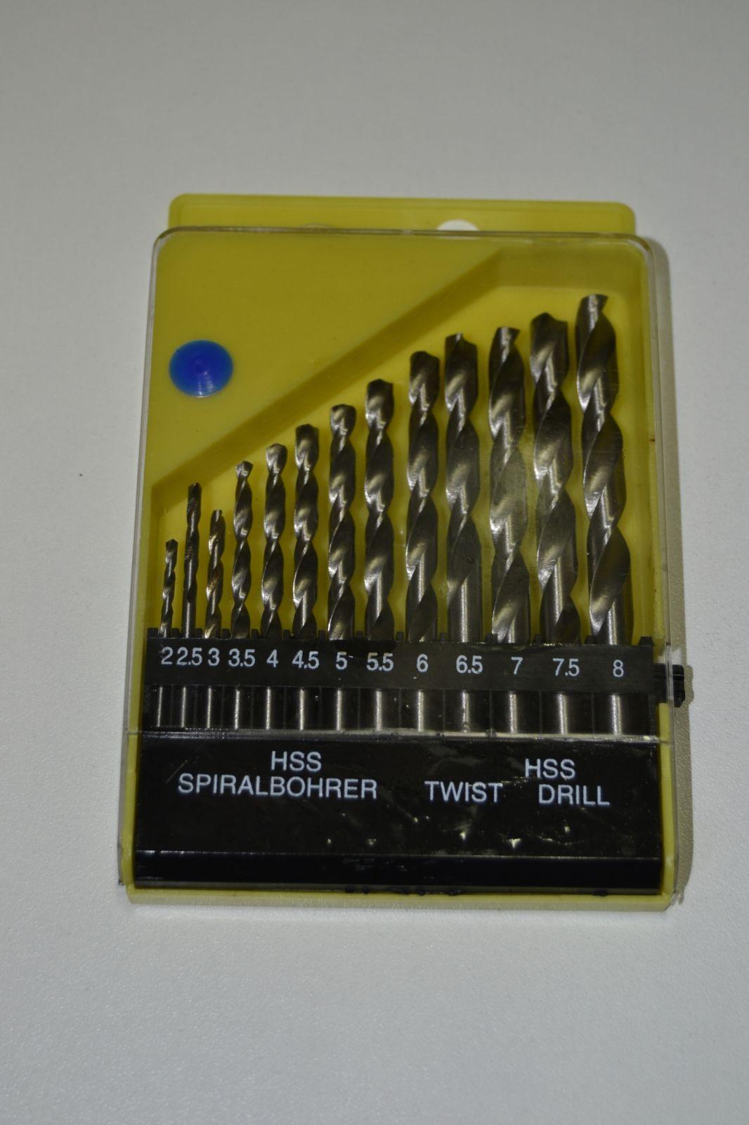 Sada vrtáků do kovu - 13ks - HSS drill - stříbrné