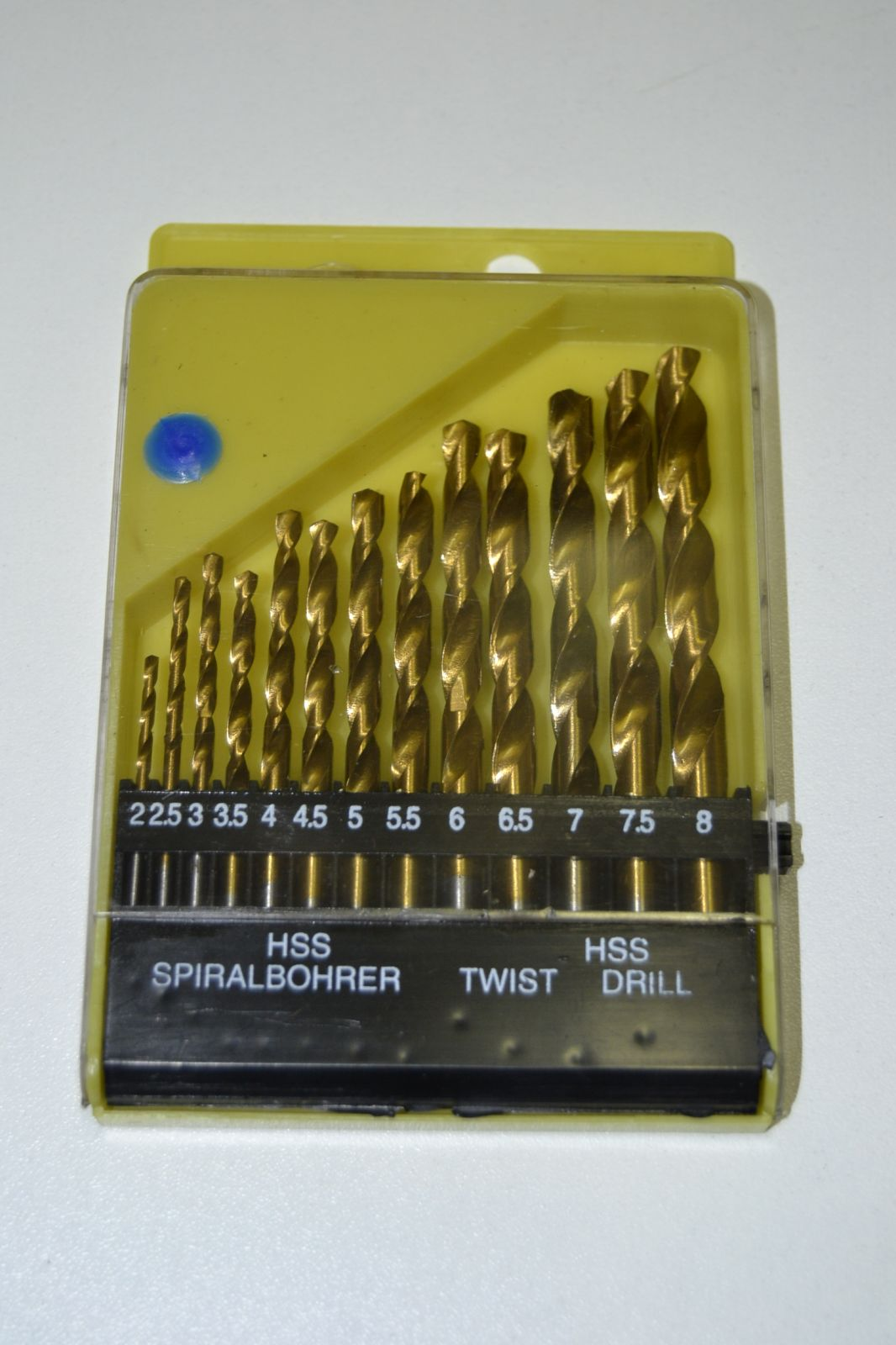Sada vrtáků do kovu - 13ks - HSS drill - zlaté