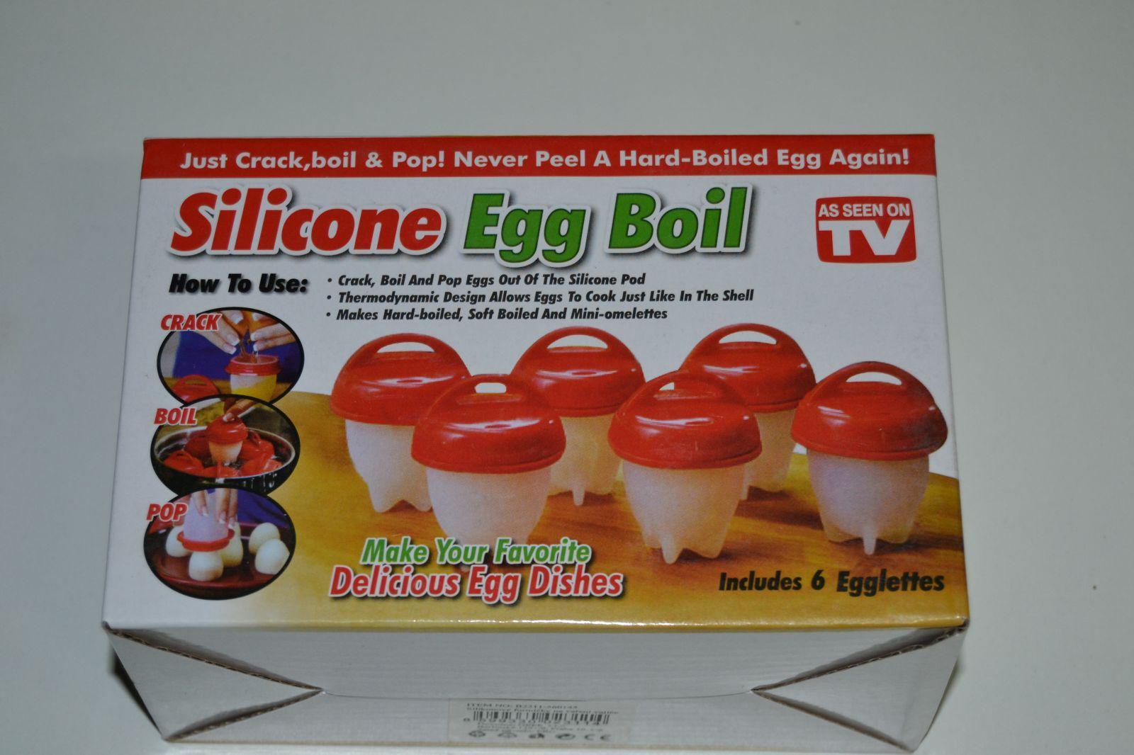 Silicone egg boil - kalíšky na vaření vajec - 6ks