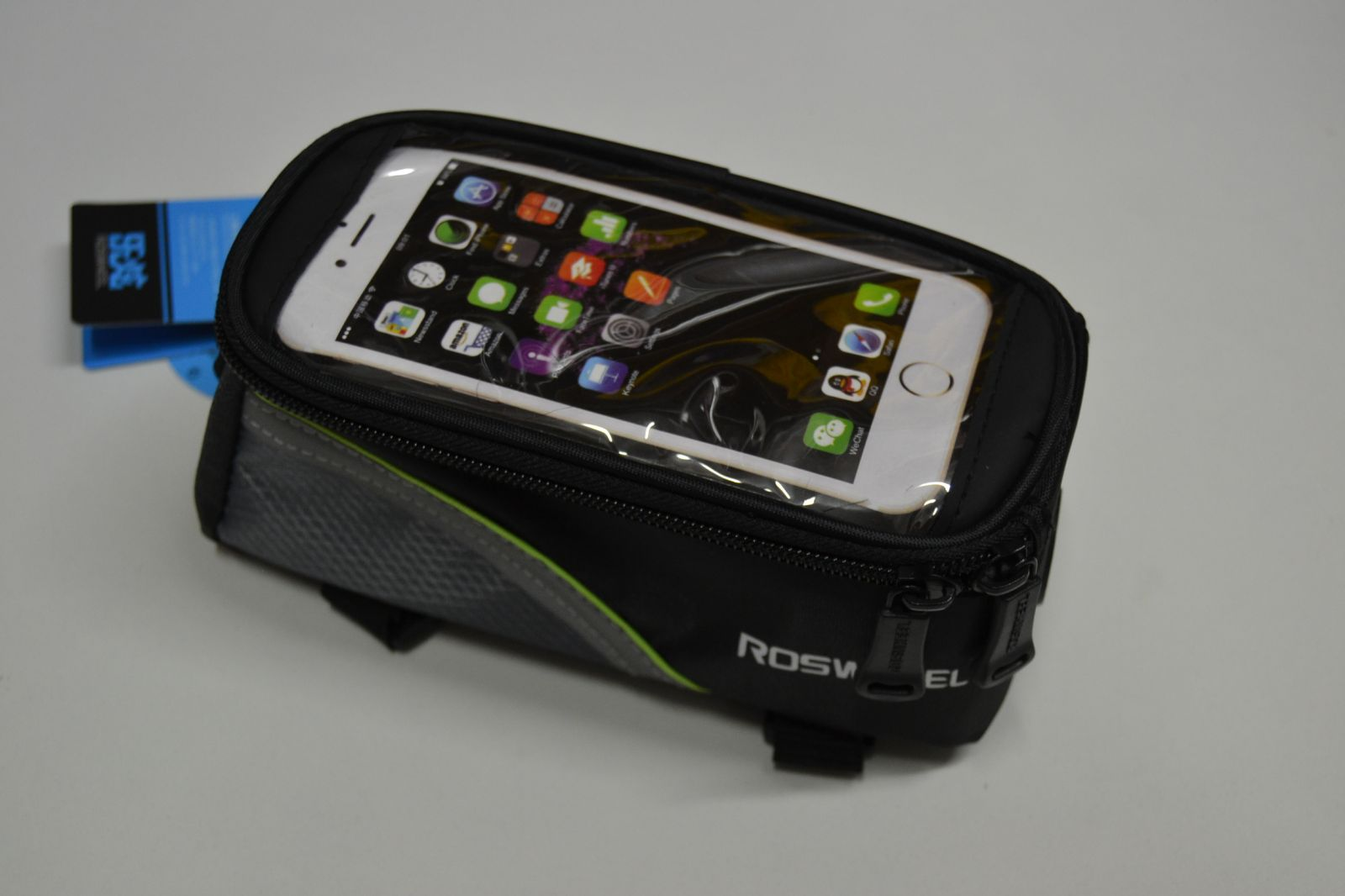 Taštička na kolo s kapsou na telefon či navigaci