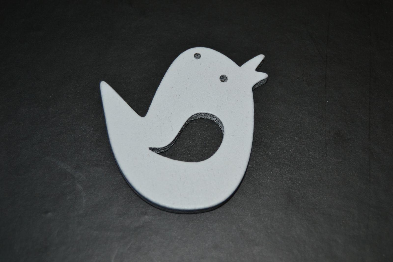 Velikonoční ozdoba - dřevěná dekorace - ptáček bílý