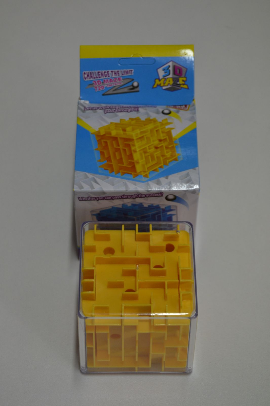 Výcviková vzdělávací hračka - 3D bludiště - kostka