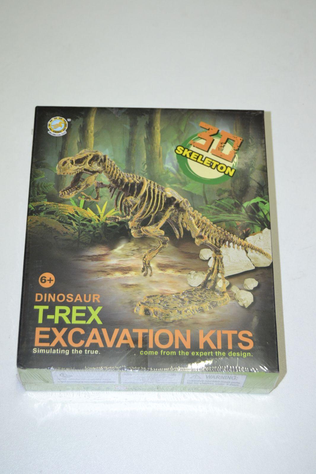 3D kostra - archeologický set - tyrannosaurus rex - skeleton